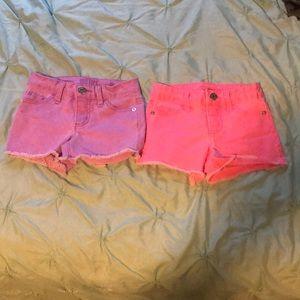 Justice (8 slim) Colored Denim Shorts